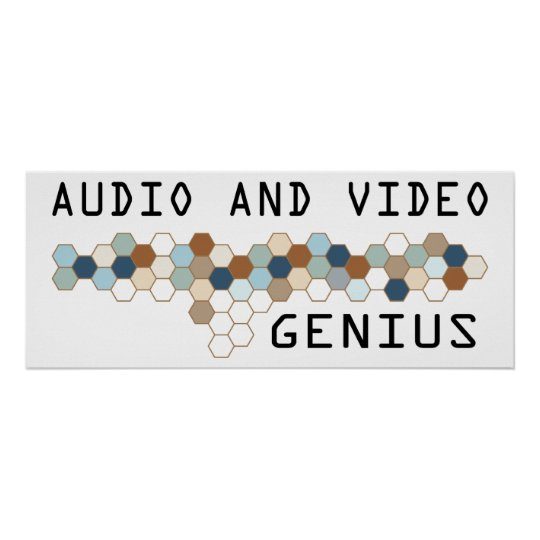 Audio and Video Genius Poster