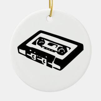 Audio Cassette Round Ceramic Decoration