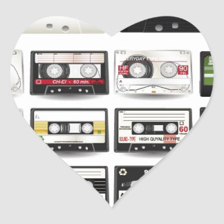 Audio-Cassettes-Vector-Collection AUDIO CASSETTES Heart Stickers