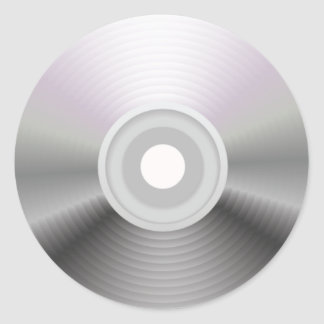 Audio CD Round Sticker