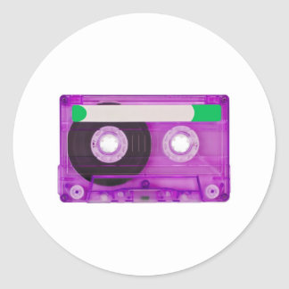audio compact cassette stickers