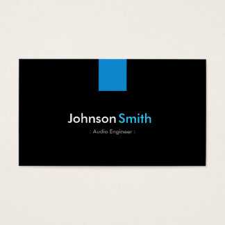 Audio Engineer Modern Aqua Blue Business Card