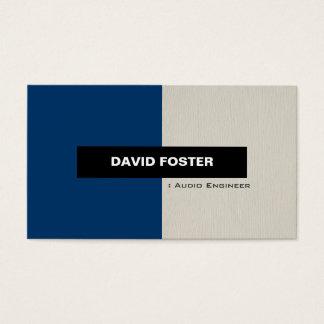 Audio Engineer - Simple Elegant Stylish Business Card