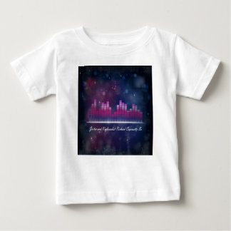 Audio Equalizer Display and Bubbles Infant T-Shirt