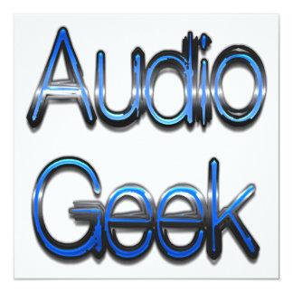 Audio Geek Blue 13 Cm X 13 Cm Square Invitation Card