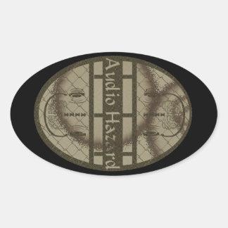 Audio Hazard Oval Sticker