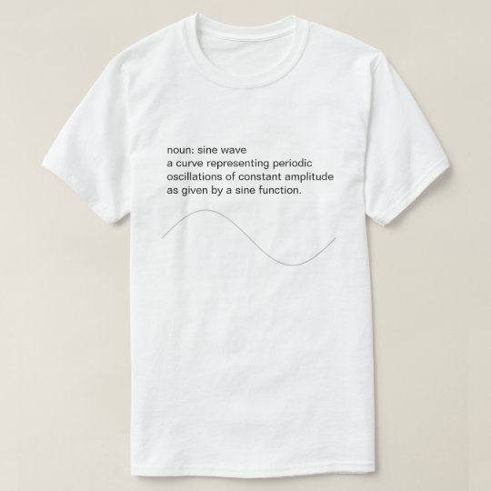 Audio Lover Sine Wave Tee Shirt