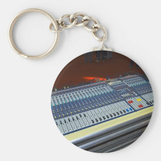 audio mixing console - sound board basic round button key ring