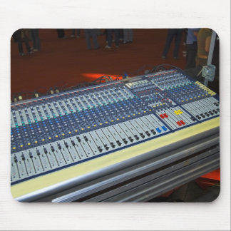 audio mixing console - sound board mousepad