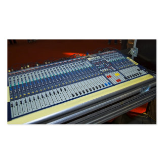 audio mixing console - sound board pack of standard business cards