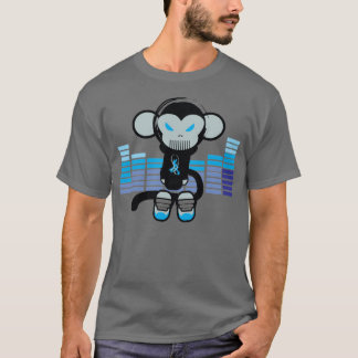 Audio Monkey (blue) T-Shirt