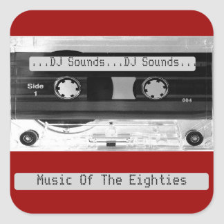Audio Music Cassette Tape Sheet of Stickers