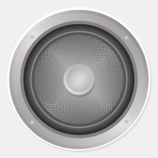 Audio speaker round sticker