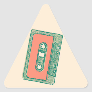 Audio tape sketch triangle sticker