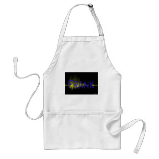 Audio waveform of your name with your name, unique standard apron