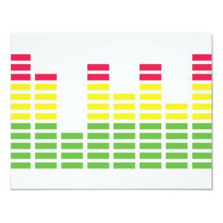 audiocontroller equalizer icon 11 cm x 14 cm invitation card