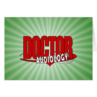 AUDIOLOGY  DOCTOR AUDIOLOGIST BIG RED LOGO CARD