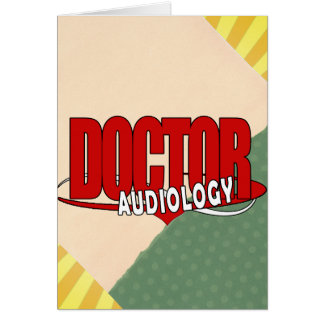 AUDIOLOGY  DOCTOR AUDIOLOGIST BIG RED LOGO GREETING CARDS