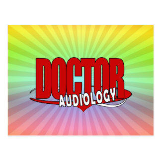 AUDIOLOGY  DOCTOR AUDIOLOGIST BIG RED LOGO POST CARD
