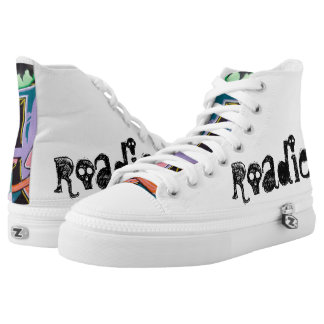 audiophiliacs.com Custom ROADIE high tops Printed Shoes