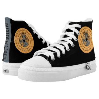 audiophiliacs.com GRUNOW DIAL HIGH TOPS Printed Shoes