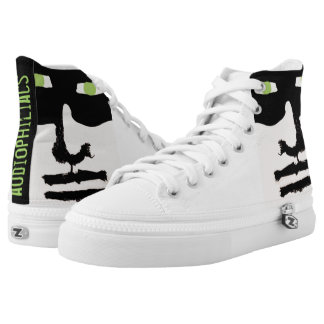 audiophiliacs.com THE CHALKENINGS high tops Printed Shoes
