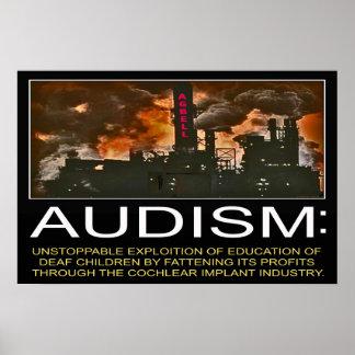 "Audism Exploits Deaf Child's Education (24''x 16"") Poster"