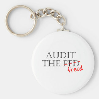 Audit the Fraud Basic Round Button Key Ring