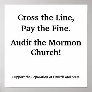 Audit the Mormon Church Poster