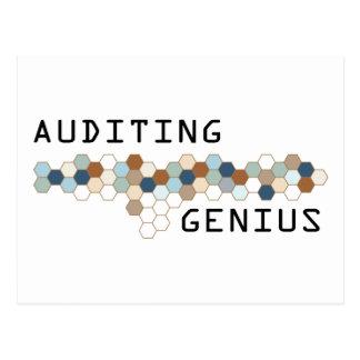 Auditing Genius Postcard