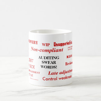 Auditing Swear Words!! Annoying Auditor Joke Mug