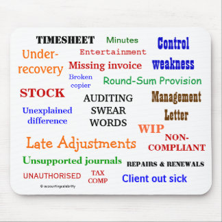 Auditing Swear Words Annoying But Funny Audit Joke Mouse Mat