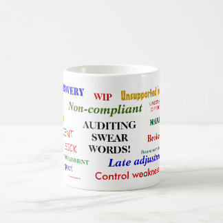 Auditing Swear Words Annoyingly Funny Auditor Joke Coffee Mug
