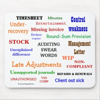AUDITING SWEAR WORDS mousepad (mulitcolour)