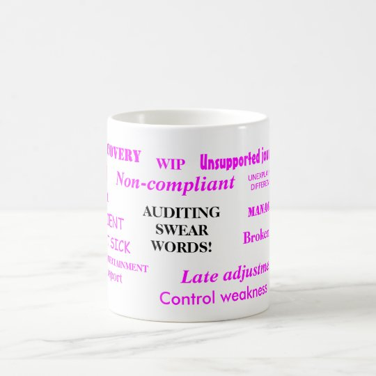 Auditing Swear Words!! Rude Ladies Mug
