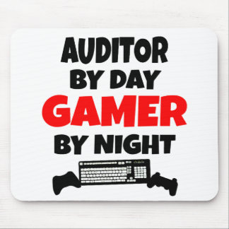 Auditor by Day Gamer by Night Mouse Mat