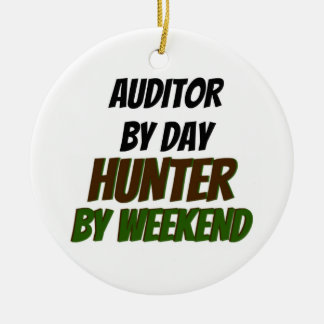 Auditor by Day Hunter by Weekend Christmas Ornament