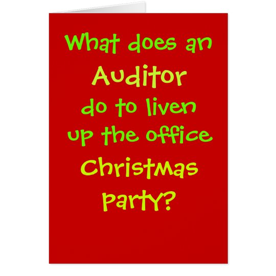 Auditor Christmas Joke - Cruel but Funny Card