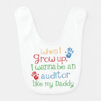 Auditor Like My Dad Baby Bib