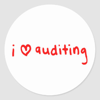 Auditor Sticker - I Love Auditing