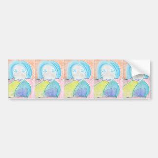 Audrey, Chalk Drawing, Art Bumper Sticker