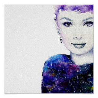 Audrey Galaxy Poster