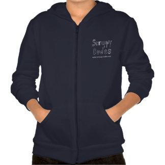 Audrey Graphic Zip Up Hoodie - Navy