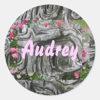 Audrey Round Sticker