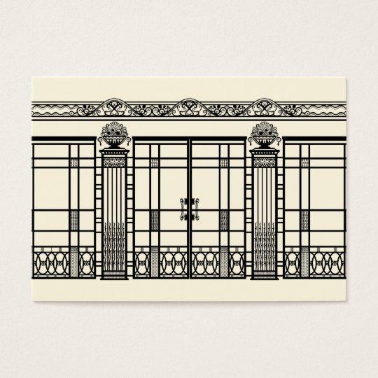 AUDREY'S ART DECO IRONWORK: ELEGANT BLACK & CREAM