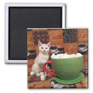 Audrey's Marshmallow Party Square Magnet