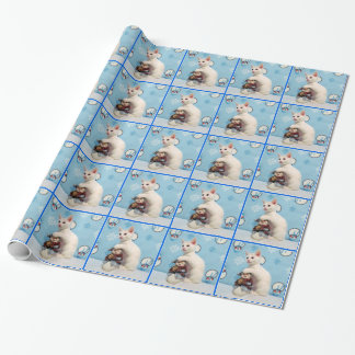 Audrey's Snow-Buddy Wrapping Paper (Rescue Cat)