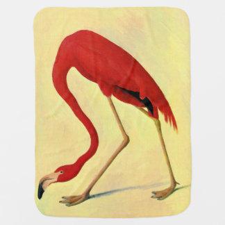Audubon American Flamingo Painting Baby Blanket