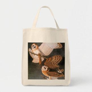 Audubon: Barn Owl Grocery Tote Bag