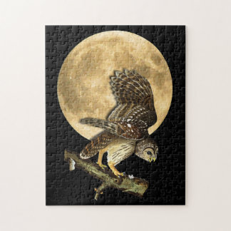 Audubon Barred Owl & Moon Halloween Gift Puzzle
